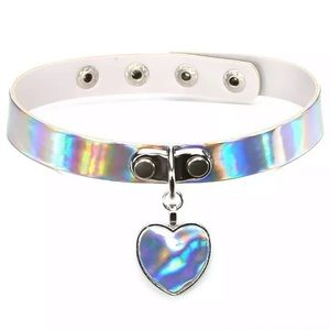 NEW!! 🔥 SEXY HOLOGRAPHIC CHOKER HEART NECKLACE
